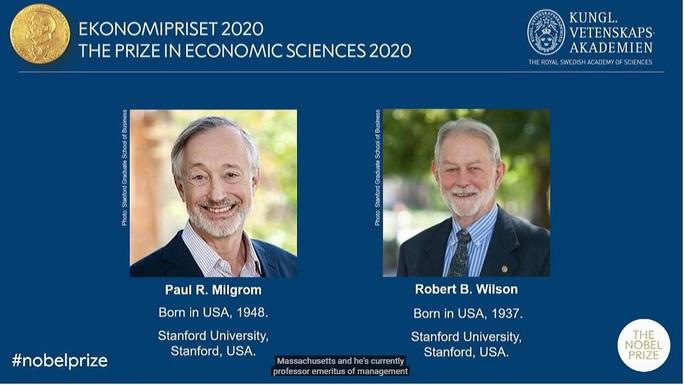 Giải Nobel Kinh tế 2020 đã có chủ - Ảnh 1.