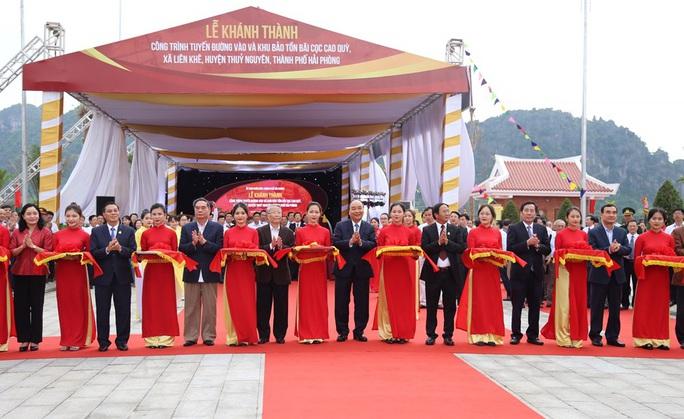 Thủ tướng khánh thành Khu bảo tồn bãi cọc Cao Quỳ - Ảnh 1.