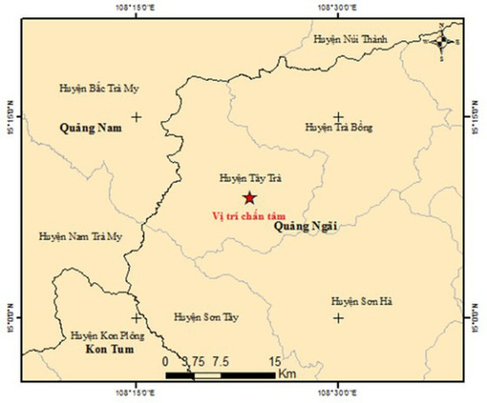 Bất thường với 4 trận động đất xảy ra trong một ngày ở Quảng Ngãi - Ảnh 1.