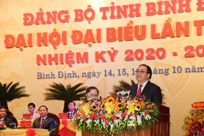 Ông Hoàng Trung Hải dự khai mạc Đại hội Đại biểu Đảng bộ tỉnh Bình Định  - Ảnh 3.