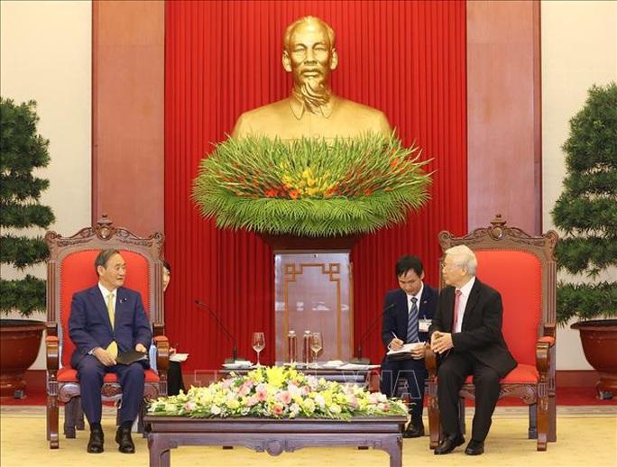 Tổng Bí thư, Chủ tịch nước Nguyễn Phú Trọng tiếp Thủ tướng Nhật Bản - Ảnh 2.