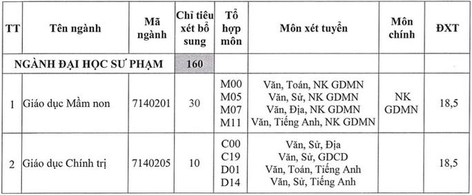 Thêm nhiều trường ĐH xét tuyển bổ sung - Ảnh 6.