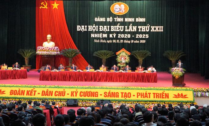 Thường trực Ban Bí thư Trần Quốc Vượng chỉ đạo Đại hội Đảng bộ tỉnh Ninh Bình - Ảnh 2.