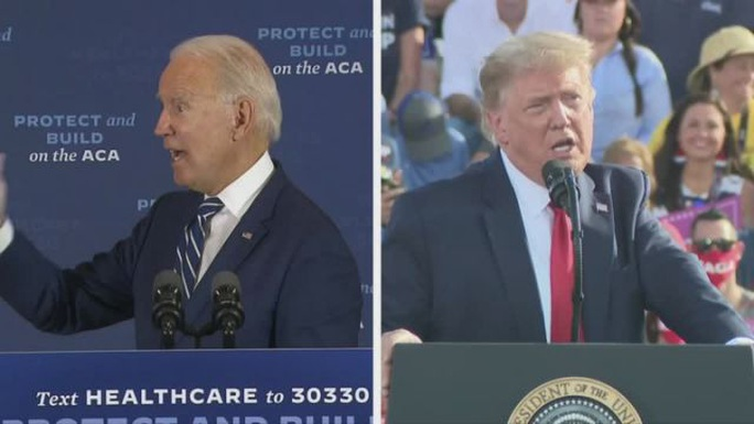 Chạy nước rút sau tranh luận, ông Trump phản pháo Biden về Covid-19 - Ảnh 1.