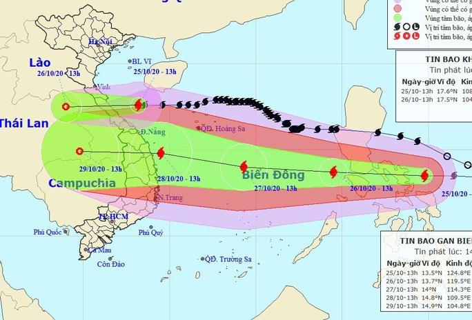 Bão Molave giật cấp 15 chồng bão số 8 vào miền Trung - Ảnh 1.