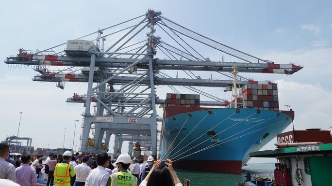 Cận cảnh siêu tàu container cập cảng Quốc tế Cái Mép - Ảnh 3.