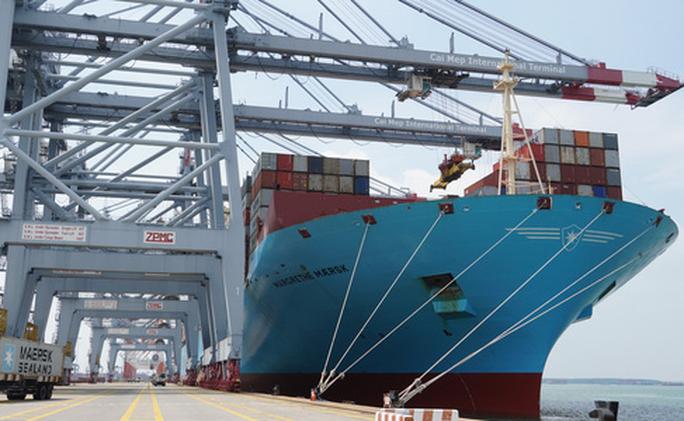 Cận cảnh siêu tàu container cập cảng Quốc tế Cái Mép - Ảnh 4.