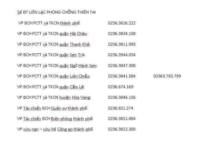 Số điện thoại phòng chống bão của 4 tỉnh miền Trung để người dân cần thì gọi - Ảnh 3.