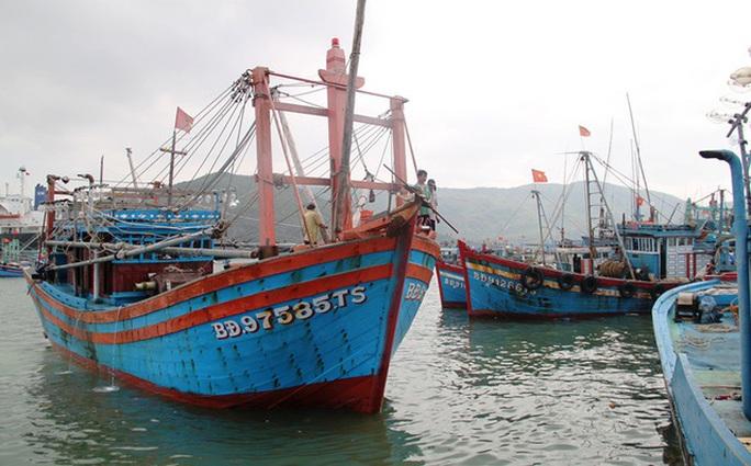 Bị chìm trên đường tránh bão, 26 thuyền viên của 2 tàu cá Bình Định mất tích - Ảnh 1.