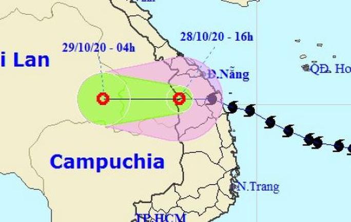 Bão số 9 suy yếu thành áp thấp nhiệt đới, tâm ra khỏi nước ta - Ảnh 1.