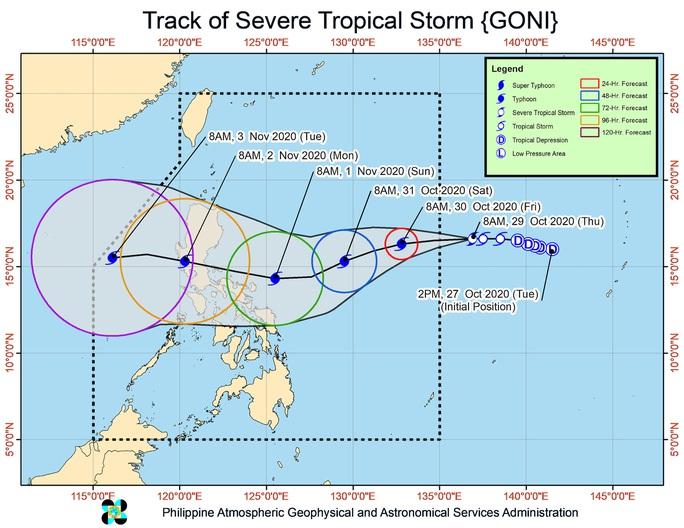 Một bão, một áp thấp nhiệt đới đang hoạt động gần Philippines - Ảnh 1.
