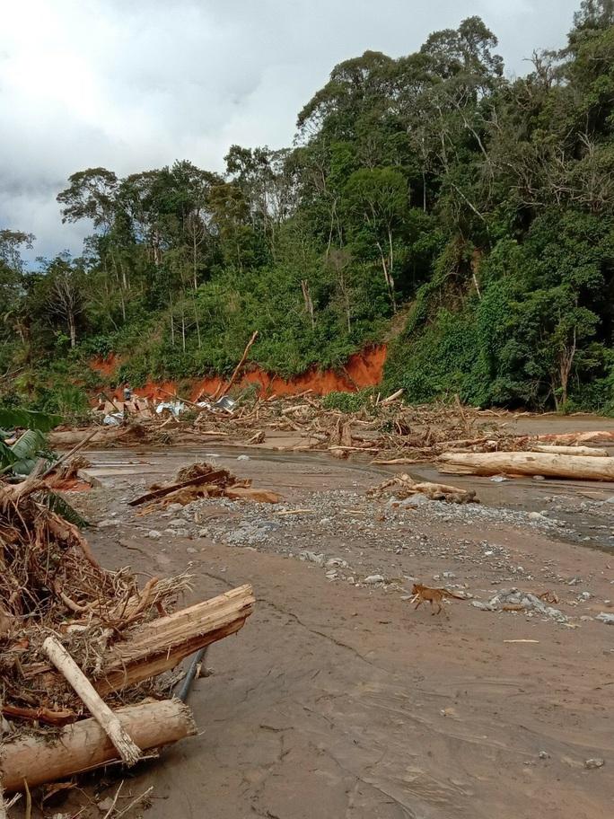 Vụ sạt lở ở Phước Sơn vùi lấp 11 người: Lực lượng cứu hộ phải ngủ lại trong rừng - Ảnh 12.