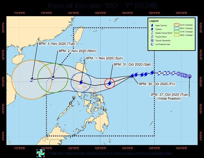 Bão Goni biến thành siêu bão cấp 5 chỉ trong 24 giờ - Ảnh 1.
