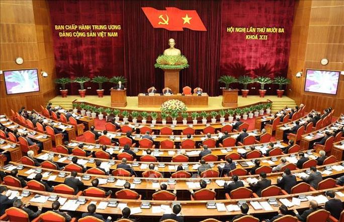 Chùm ảnh Tổng Bí thư, Chủ tịch nước chủ trì khai mạc Hội nghị Trung ương 13 - Ảnh 1.