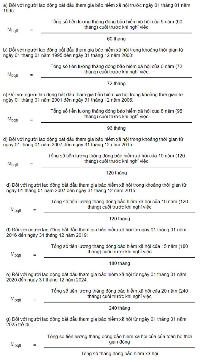 Cách tính lương hưu hàng tháng từ ngày 1-1-2021 - Ảnh 1.