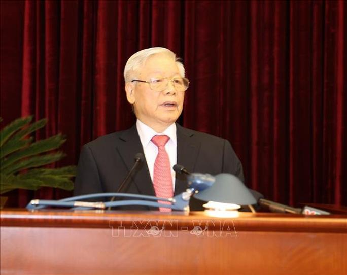 Chùm ảnh Tổng Bí thư, Chủ tịch nước chủ trì khai mạc Hội nghị Trung ương 13 - Ảnh 6.