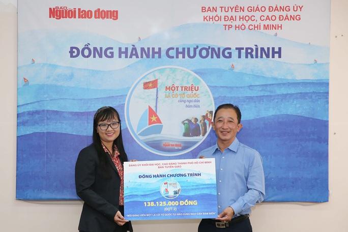 10 trường đại học ủng hộ chương trình Một triệu lá cờ Tổ quốc cùng ngư dân bám biển - Ảnh 2.