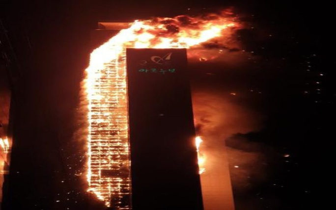 Hàn Quốc: Tòa nhà 33 tầng cháy ngùn ngụt trong đêm - Ảnh 5.