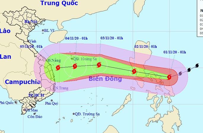 Siêu bão Goni vào Biển Đông, miền Trung lại đối mặt với bão lớn - Ảnh 1.