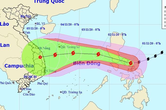 Bão Goni lao nhanh trên Biển Đông, đổ bộ vào miền Trung giữa tuần sau - Ảnh 1.