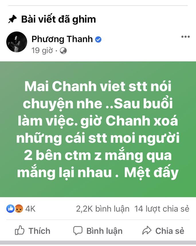 Ca sĩ Phương Thanh gỡ bài viết xúc phạm người dân Quảng Ngãi - Ảnh 1.