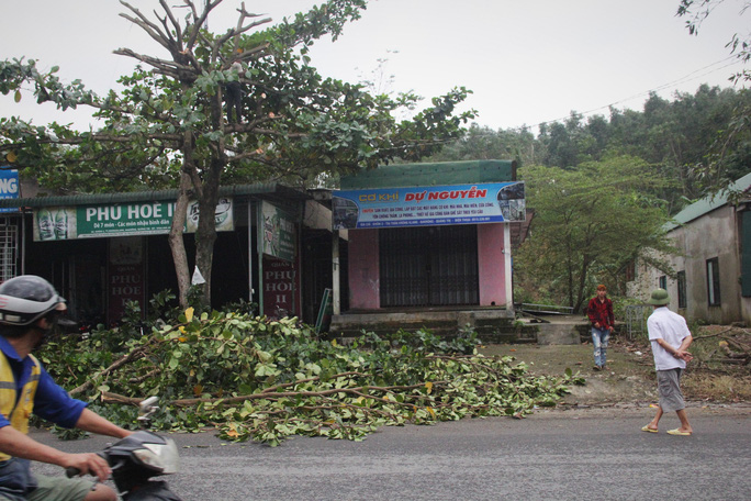 Chùm ảnh:  Quảng Trị chạy đua sơ tán dân trước khi bão số 13 đổ bộ - Ảnh 2.