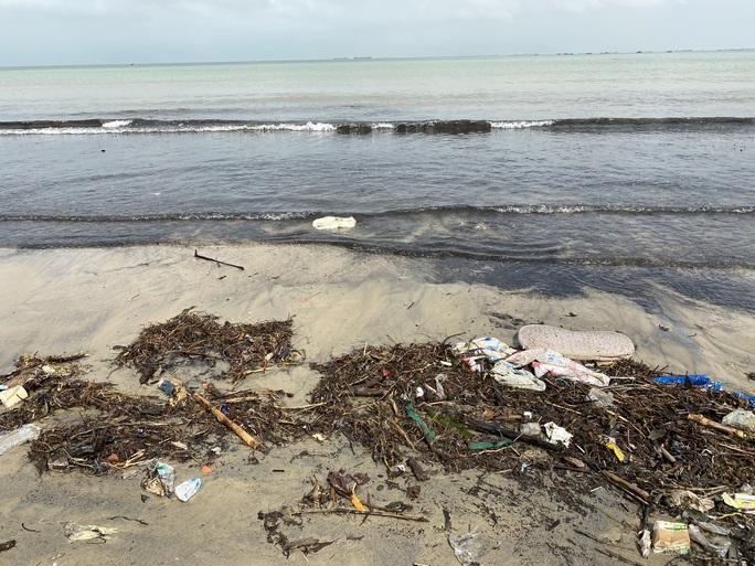 CLIP: Rác tràn ngập bãi biển Đà Nẵng sau bão số 13 - Ảnh 10.