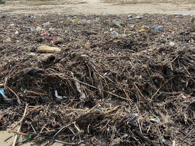 CLIP: Rác tràn ngập bãi biển Đà Nẵng sau bão số 13 - Ảnh 11.