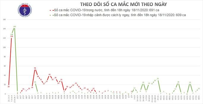 Thêm 12 ca mắc mới Covid-19, Việt Nam có 1.300 bệnh nhân - Ảnh 1.
