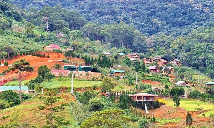 Sẽ buộc tháo dỡ làng biệt thự trái phép ở Lâm Đồng - Ảnh 1.
