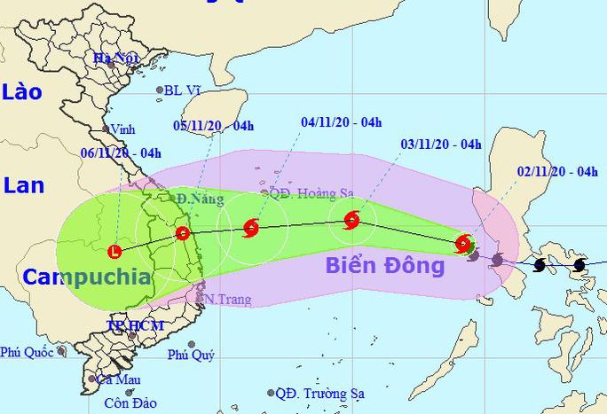 Bão số Goni vào Biển Đông trở thành cơn bão số 10, hướng vào Đà Nẵng - Phú Yên - Ảnh 1.