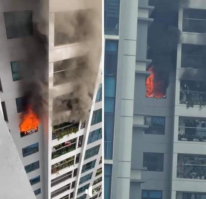 Cháy trên tầng 29 chung cư Goldmark City, hàng trăm người tháo chạy - Ảnh 1.