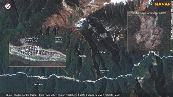 Ảnh vệ tinh: Trung Quốc xây làng trên đất Bhutan? - Ảnh 1.