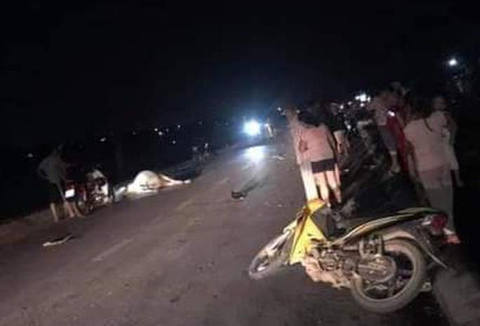 2 người thương vong vì tông trúng con bò trên quốc lộ - Ảnh 1.