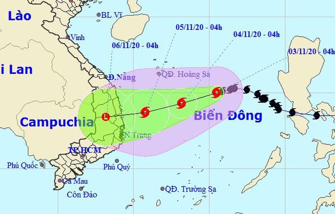 Bão số 10 giật cấp 11 hướng vào các tỉnh Quảng Ngãi đến Khánh Hòa - Ảnh 1.