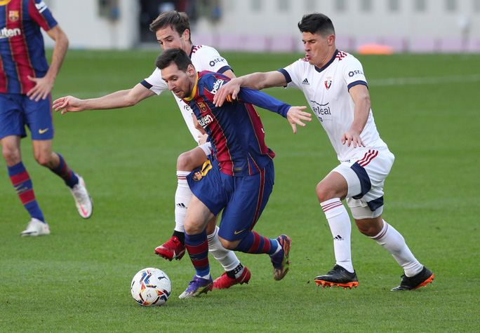 Messi, Griezmann cùng lập siêu phẩm, Barcelona lên Top 7 La Liga - Ảnh 1.