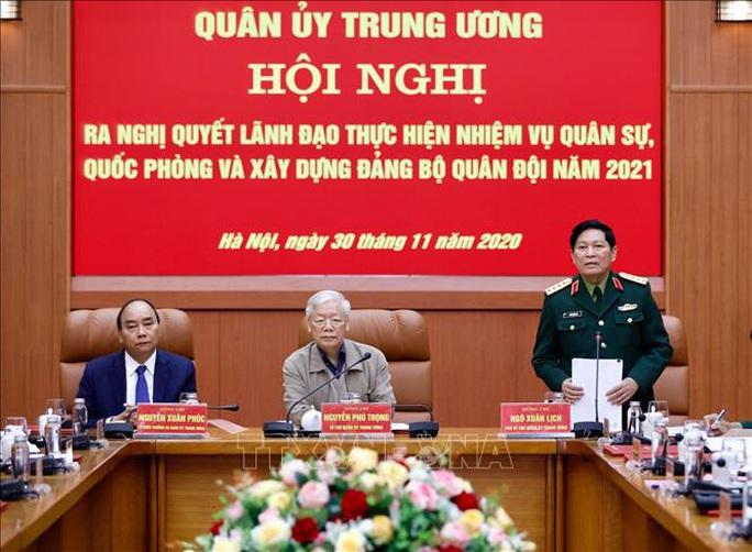 Tổng Bí thư, Chủ tịch nước Nguyễn Phú Trọng chủ trì Hội nghị Quân ủy Trung ương - Ảnh 4.