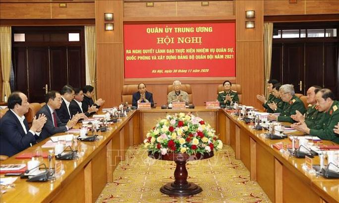 Tổng Bí thư, Chủ tịch nước Nguyễn Phú Trọng chủ trì Hội nghị Quân ủy Trung ương - Ảnh 3.