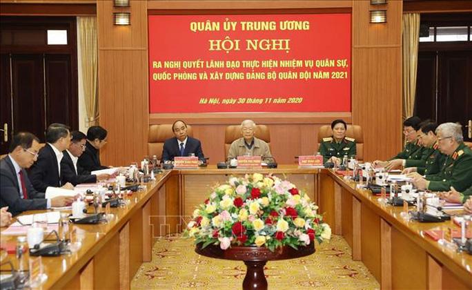 Tổng Bí thư, Chủ tịch nước Nguyễn Phú Trọng chủ trì Hội nghị Quân ủy Trung ương - Ảnh 6.
