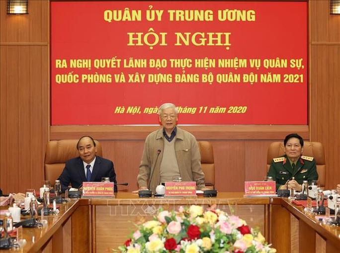 Tổng Bí thư, Chủ tịch nước Nguyễn Phú Trọng chủ trì Hội nghị Quân ủy Trung ương - Ảnh 1.