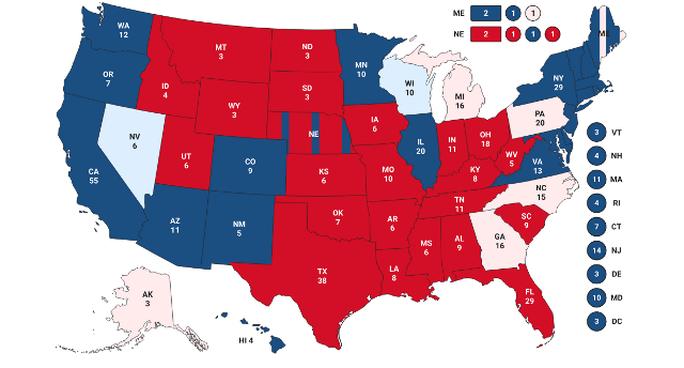 Bầu cử Mỹ: Bang Wisconsin bất ngờ đổi màu từ hồng sang xanh nhạt, ông Biden thêm hy vọng - Ảnh 2.