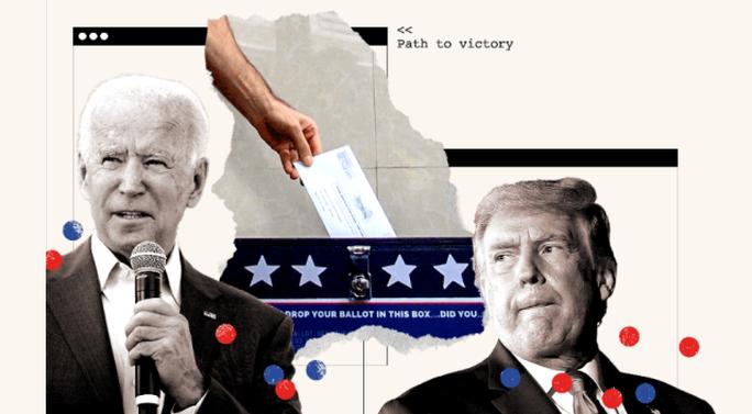 Bầu cử Mỹ: Bang Wisconsin bất ngờ đổi màu từ hồng sang xanh nhạt, ông Biden thêm hy vọng - Ảnh 1.