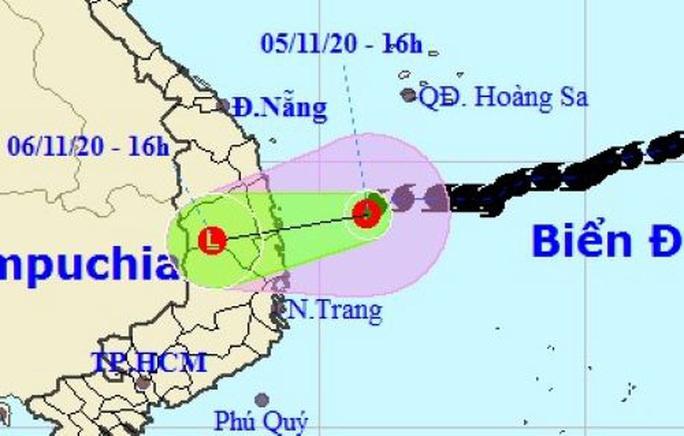 Bão số 10 thành áp thấp nhiệt đới, miền Trung mưa lớn - Ảnh 1.