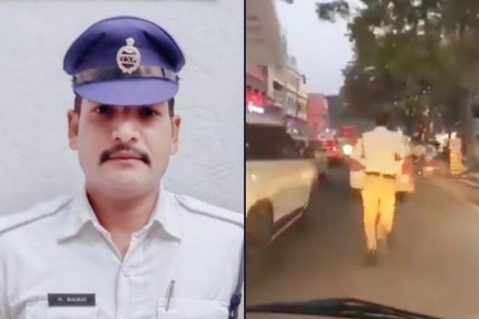 Ấn Độ: Tan chảy trước anh cảnh sát chạy bộ 2 km mở đường cho xe cấp cứu - Ảnh 2.