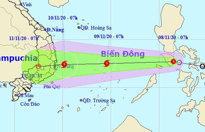 Áp thấp nhiệt đới mạnh lên thành bão giật cấp 11 hướng vào Nam Trung bộ - Ảnh 1.