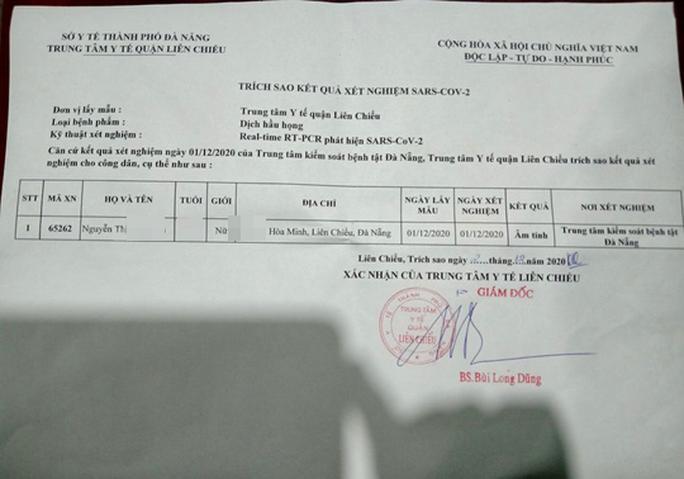 Đà Nẵng: Kết quả xét nghiệm SARS-CoV-2 bị sửa từ âm sang dương rồi lan truyền trên mạng - Ảnh 2.