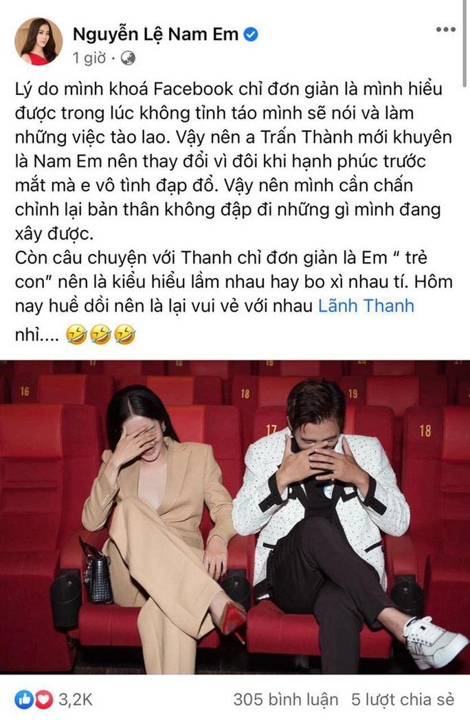 Bị Trấn Thành nhận xét là nữ hoàng drama, Nam Em lên tiếng - Ảnh 3.