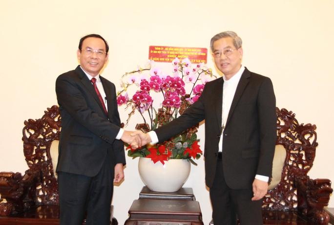 Bí thư Thành ủy Nguyễn Văn Nên gửi lời tri ân Tòa Tổng Giám mục TP HCM - Ảnh 1.