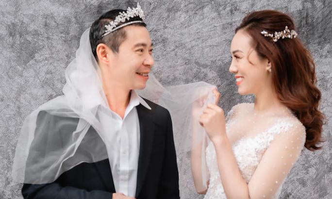 Cô Đẩu Công Lý hài hước trong bộ ảnh cưới trước lễ cưới lần 3 - Ảnh 1.