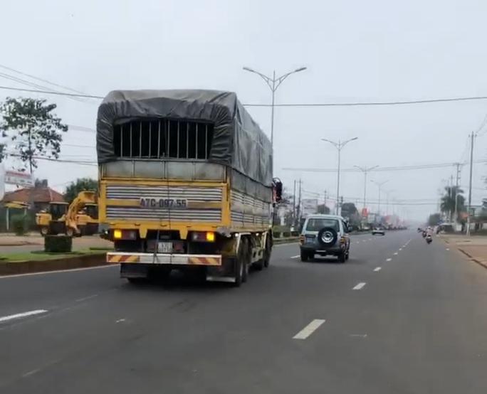 Xe chở quá tải, tài xế không chấp hành hiệu lệnh bị phạt nặng - Ảnh 1.